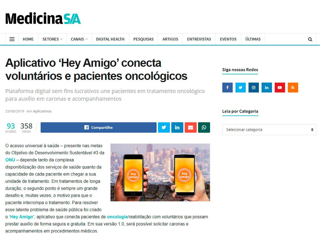 Hey Amigo na Medicina S/A